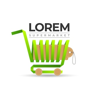Shopping cart supermarkt logo