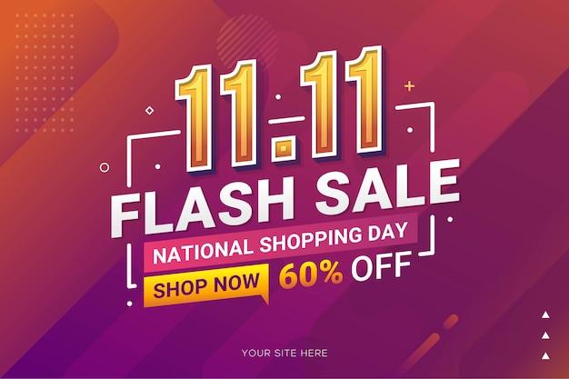 Shopping day sale banner voor zakelijke retailpromotie