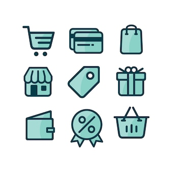 Shopping icons collectie