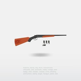 Shotgun met kogels illustratie