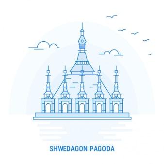 Showagon pagoda blue landmark