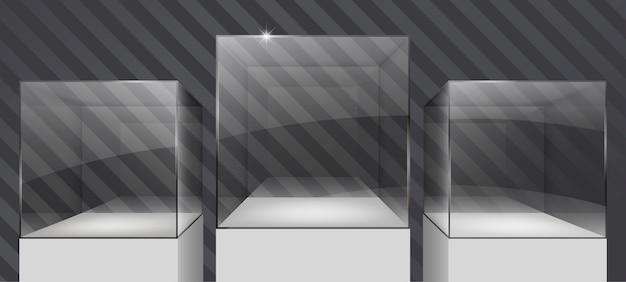 Showcases van glas