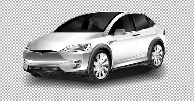 Showroom. de full-sized, volledig elektrische, luxe cross-over suv tesla model x.