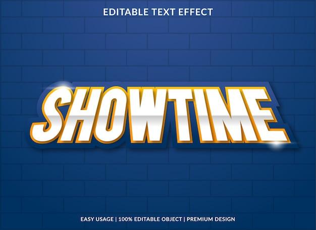Showtime-teksteffectsjabloon met gewaagde stijl