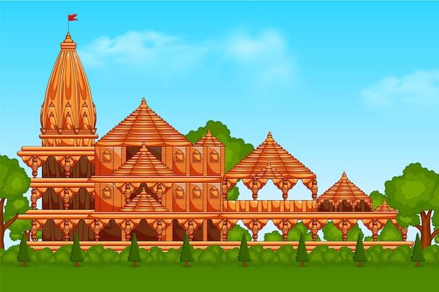 Shri ram mandir ayodhya temple geboorteplaats van god ram