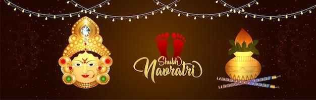 Shubh navratri viering banner of koptekst