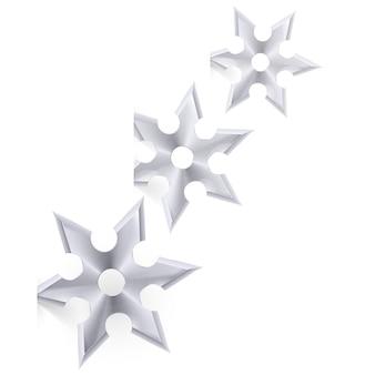 Shuriken op wit