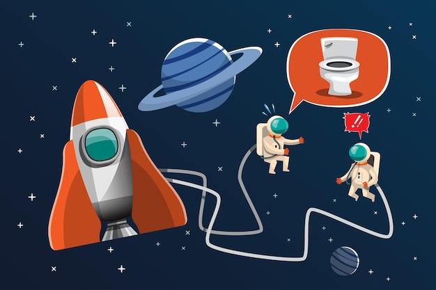 Shuttle die in de ruimte over de planeet vliegt. de ruimtewedloop en het ruimtetoerisme groeien. illustratie in 3d-stijl