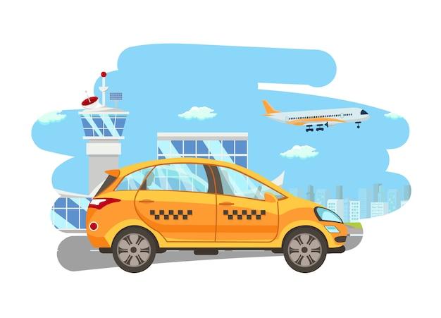 Shuttle diensten platte vectorillustratie cartoon