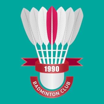 Shuttle-logo voor badmintonclub.