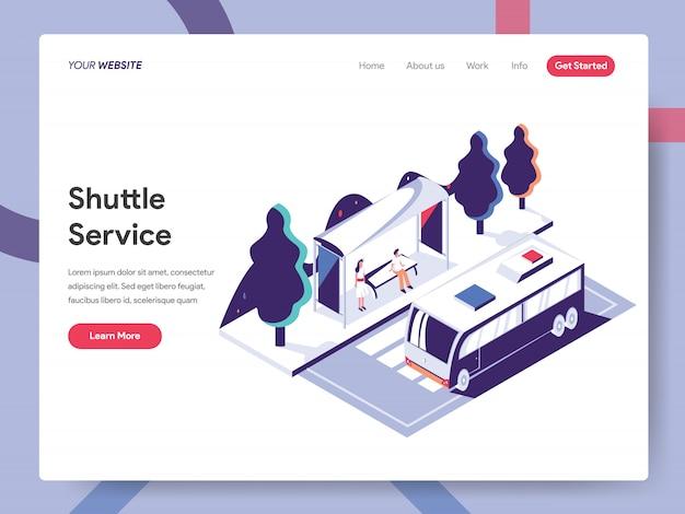 Shuttle service-banner concept voor websitepagina