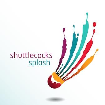 Shuttlecocks plons badminton vector
