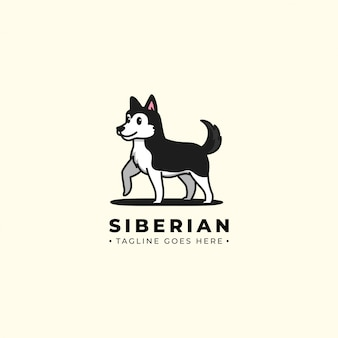 Siberisch husky logo