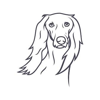 Siberische husky dog - vector logo / pictogram illustratie mascotte