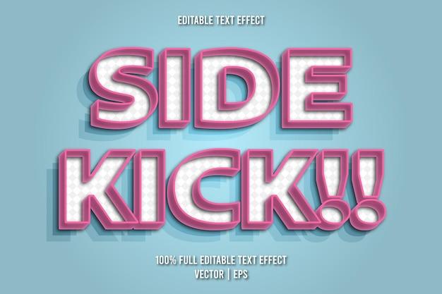 Sidekick!! bewerkbare teksteffect retro-stijl