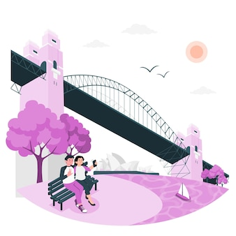 Sidney concept illustratie