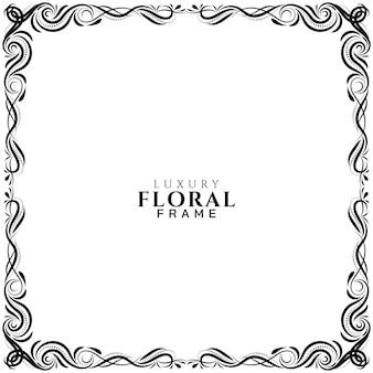 Sier bloemen frame elegant ontwerp achtergrond