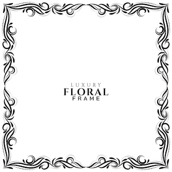 Sier bloemen frame ontwerp achtergrond