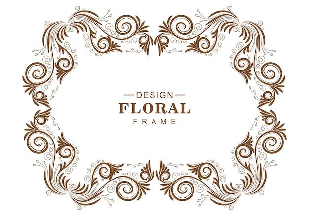 Sier decoratief bloemenframe