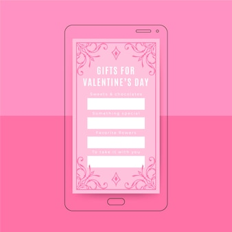 Sier elegant instagram verhaal valentijnsdag sjabloon