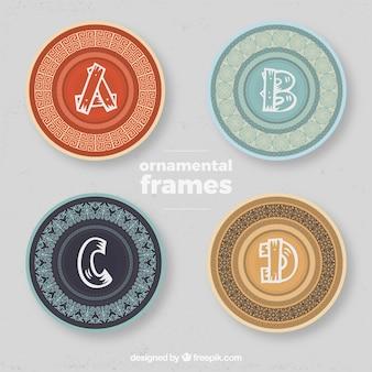 Sier frames met hoofdletter