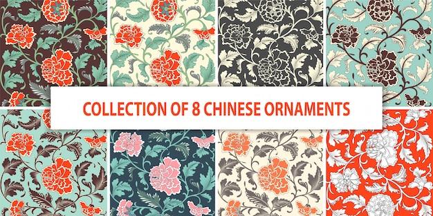Sier gekleurd bloemenhand getrokken patroon.