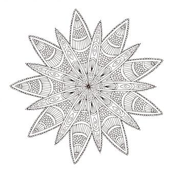 Sier geometrische mandala