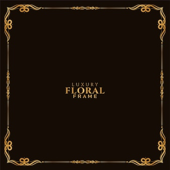Sier gouden bloemen frame ontwerp koninklijke achtergrond