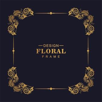 Sier gouden decoratief bloemenframe