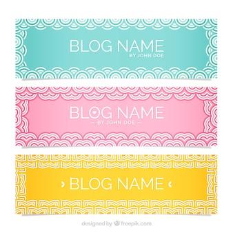 Sier headers voor blog