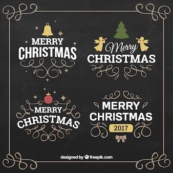Sier kerst sticker collectie