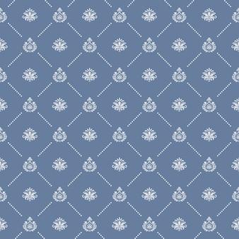 Sier koninklijke bruiloft naadloze achtergrond. eindeloze patroon, decoratieve textuur, vector illustratie