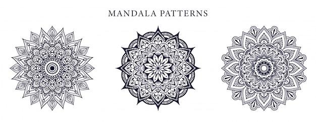Sier luxe mandala-ontwerp