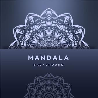 Sier mandala achtergrondontwerp