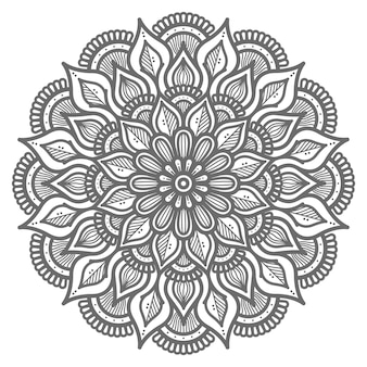 Sier mandala illustratie voor abstract en decoratief concept