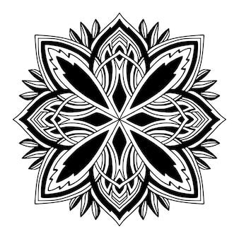 Sier mandala kleurboek pagina-ontwerp