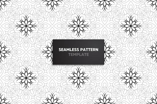 Sier mooi naadloos patroon met mandala.
