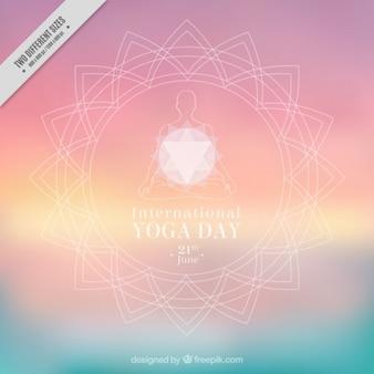 Sier ongericht yoga achtergrond