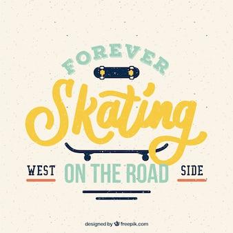 Sier retro skate badge