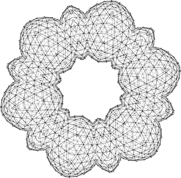 Sier rond kantpatroon. abstracte sieraad. oriënteer traditioneel ornament.