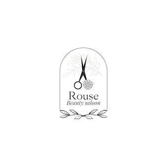 Sier schoonheid logo sjabloon