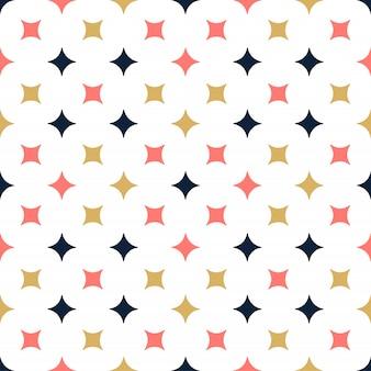 Sier vector naadloos patroon met ster. moderne stijlvolle textuur met herhalende tegels.