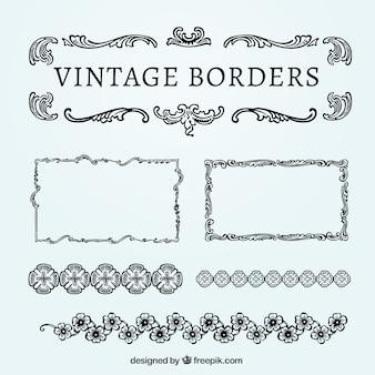 Sier vintage grenzen pak