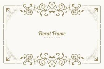 Sieraad floral frame achtergrond
