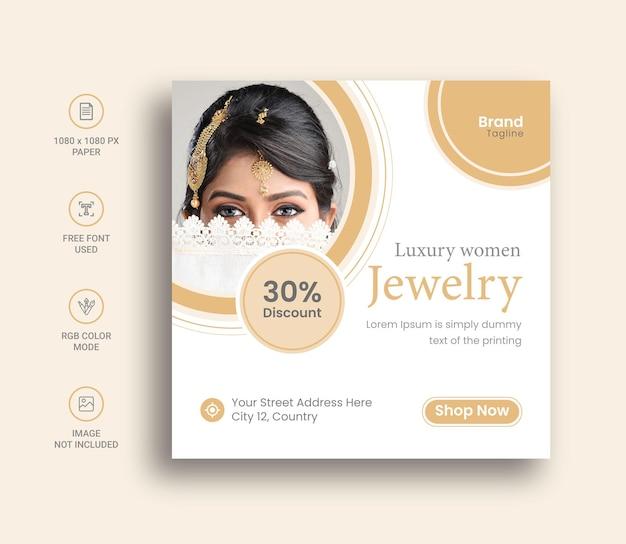 Sieraden social media post of banner design