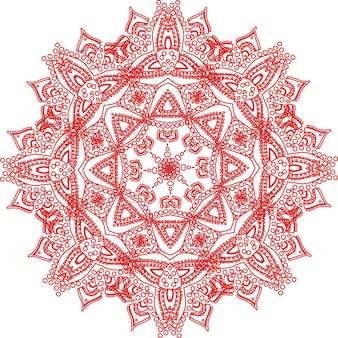 Sierkaart met mandala. vintage decoratieve elementen. hand getekende achtergrond. logo.