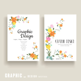 Sierlijk brochure sjabloonontwerp met florale elementen