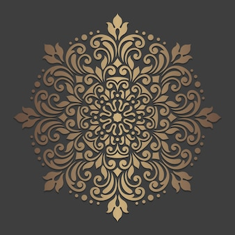 Sierlijk mandala-ontwerp. sier cirkelpatroon.