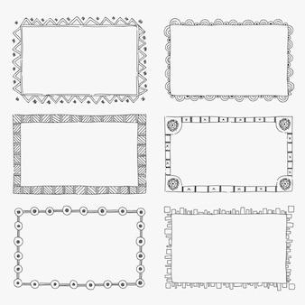 Sierlijke frame decoratie hand getekende kopie ruimte