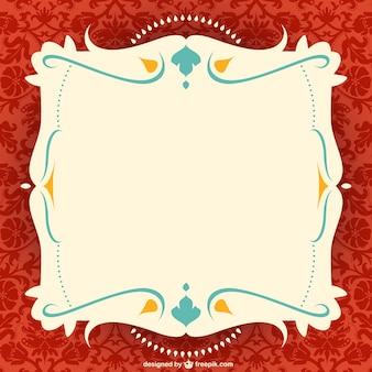 Sierlijke frame vector